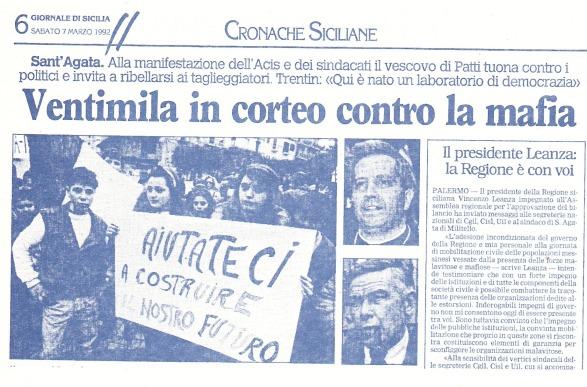 Giornale di Sicilia (7 marzo 1992)