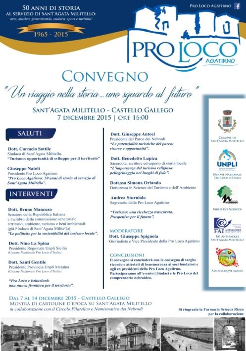 PROGRAMMA Convegno Pro Loco Agatirno
